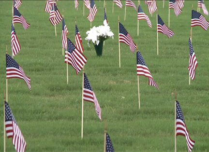 National Cemetery Flag Laying