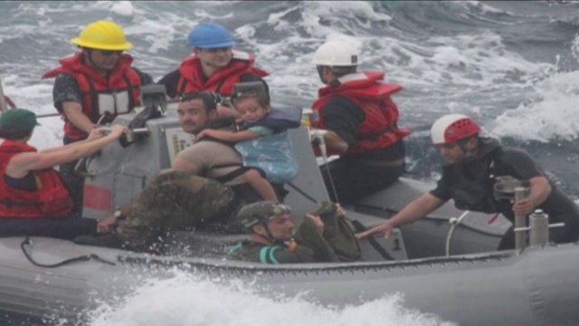 US Navy rescues family with sick baby from sailboat