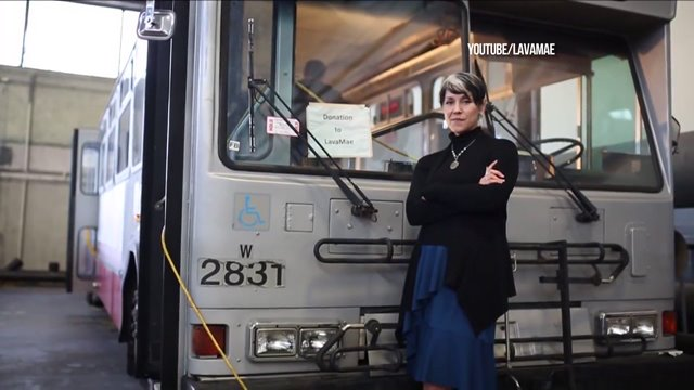 Public bus converted into mobile shower for homeless