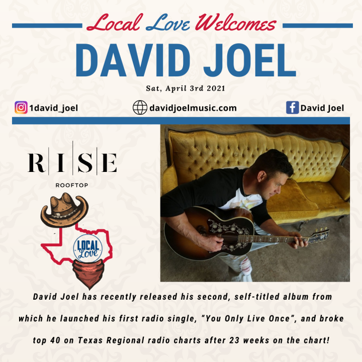 "RISE Rooftop shows ""Local Love"" for Rodeo Houston featuring David Joel"