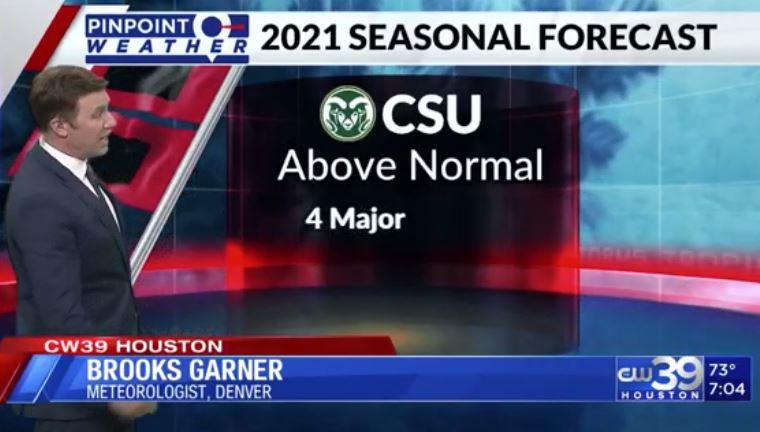 Meteorologist Brooks Garner in Denver on 2021 Hurricane Season Outlook