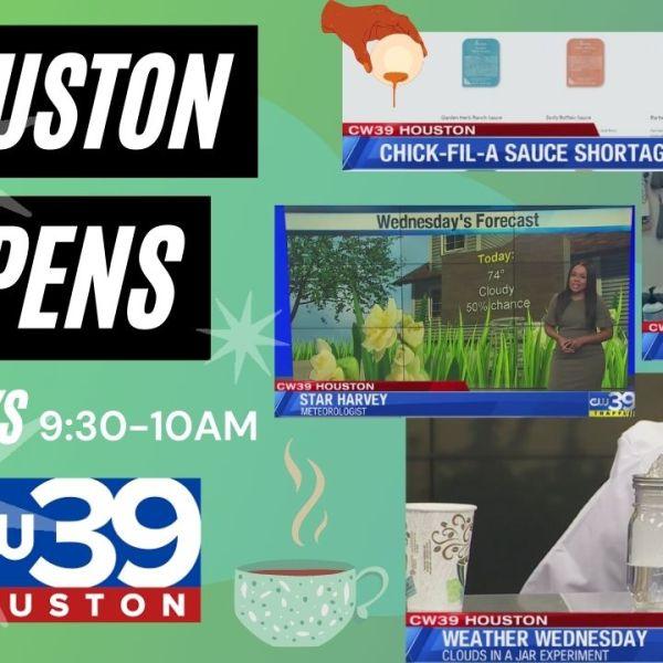 Houston Happens – Wednesday weather, spring clean your diet, plus CelebriTEA