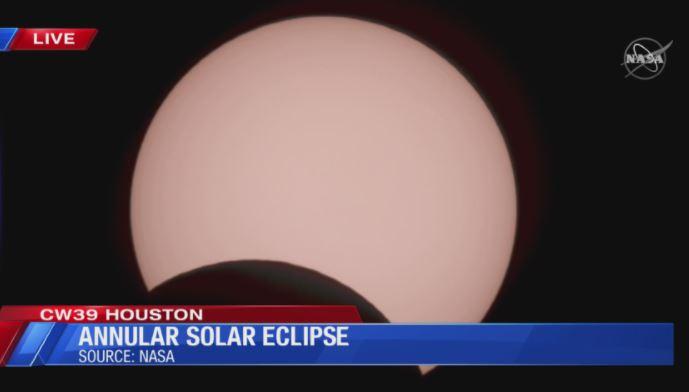 Houston Weather - Annular Solar Eclipse