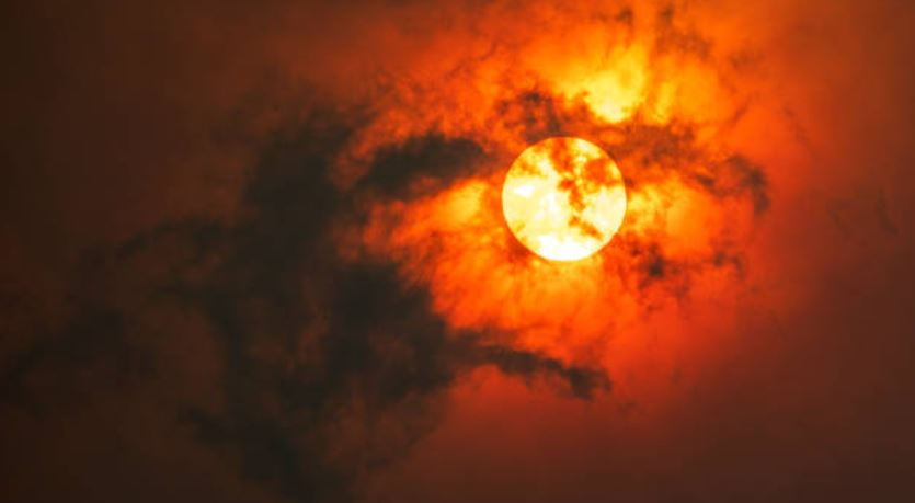 Smoke and haze under the sun. Getty Images